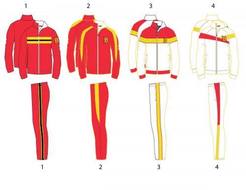 Dominguez track-suits